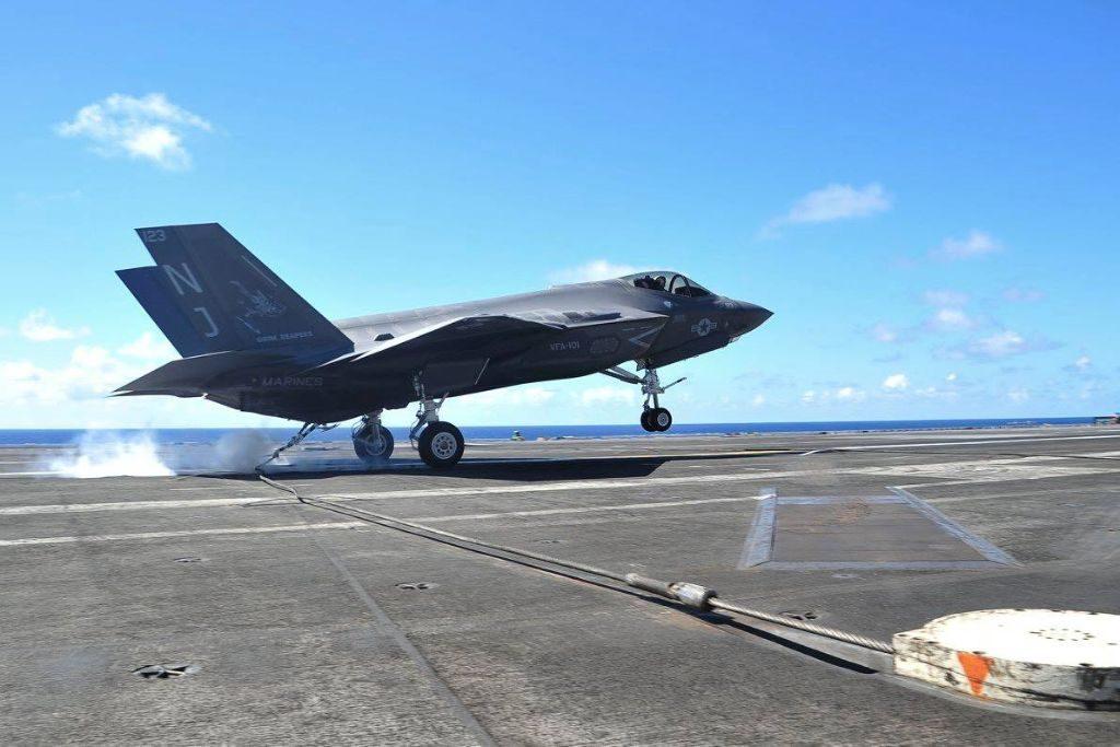 Третий этап испытаний американских F-35C