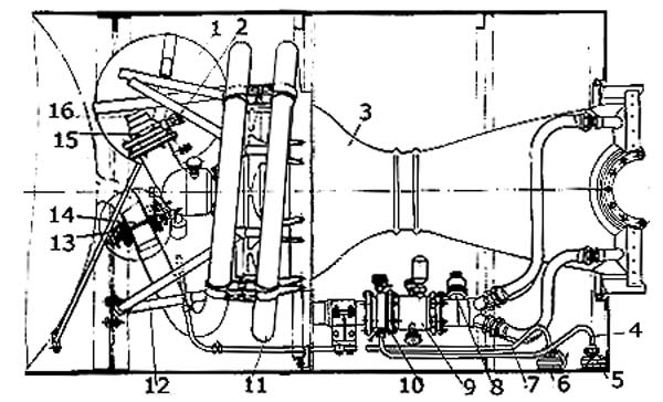 Схема ЖРД 8Д511 (оригинал с