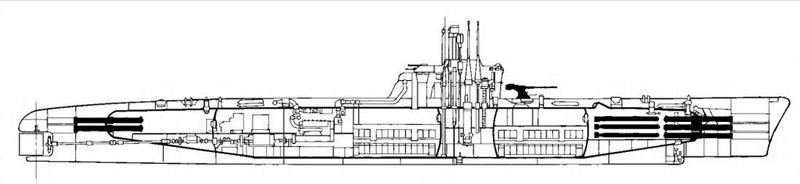 Компоновочная схема ПЛ пр.611
