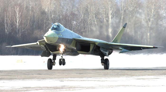 Первая пробежка Т-50-1 ПАК ФА