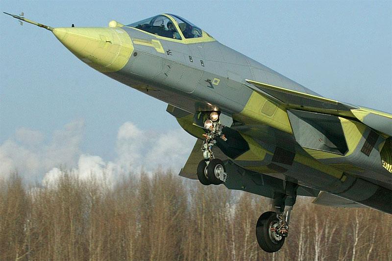 Первый взлет Т-50 ПАК ФА,