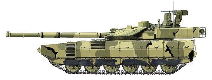 """Гипотетическое изображение танка  """"Армата """".  Автором танк поименован как  """"Т-99  """"Приоритет """".  Рисунок создан на базе..."""