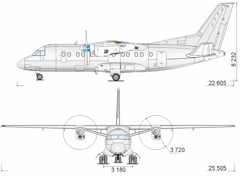 Проекции Ан-140-100