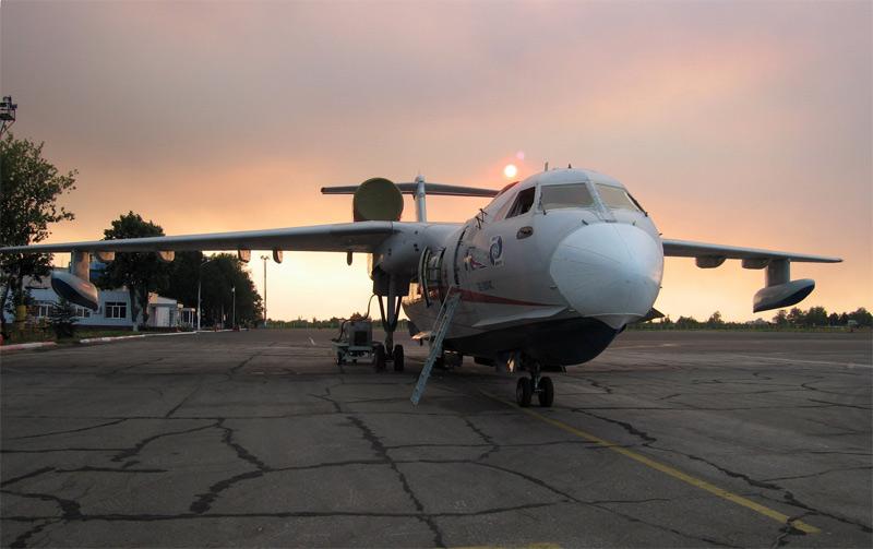 Второй летный Бе-200 (борт