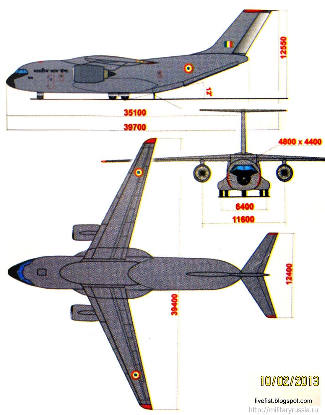 Плакат с проекциями самолета МТА с ...: militaryrussia.ru/blog/topic-667.html